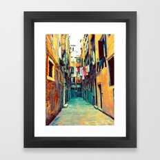 Laundry and Door Framed Art Print