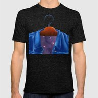 Universe In A Jacket Jea… Mens Fitted Tee Tri-Black SMALL