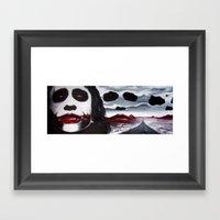 THE JOKER'S HIGHWAY Framed Art Print