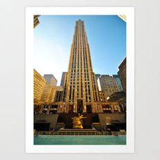 The Building. Rockfeller Center, New York. Art Print
