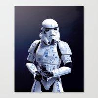 Tattooed Trooper Canvas Print
