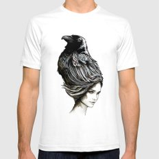 Raven Haired SMALL Mens Fitted Tee White