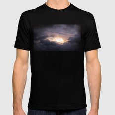 clouds. SMALL Black Mens Fitted Tee