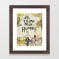 Je T'aime Mon Homme Framed Art Print