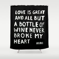 WINE Shower Curtain