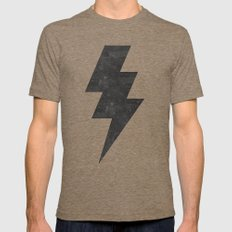 lightning strike Mens Fitted Tee Tri-Coffee SMALL