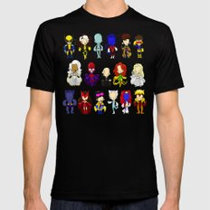 X MEN GROUP SMALL Mens Fitted Tee Black