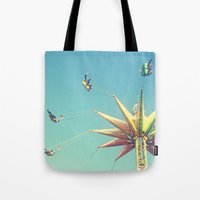 Flying Chairs At The Car… Tote Bag