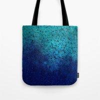 Sea Green Blue Texture Tote Bag