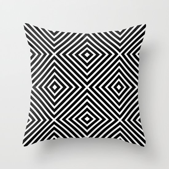 Chevron Diamond ///www.pencilmeinstationery.com Throw Pillow