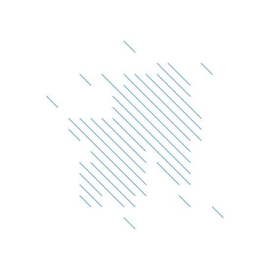 #198 Summer rain – Geometry Daily Canvas Print