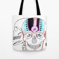 Rainbow Skulls Tote Bag