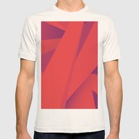 Striking Red Mens Fitted Tee Natural SMALL