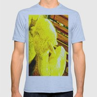 Amarillo Animal Mens Fitted Tee Athletic Blue SMALL