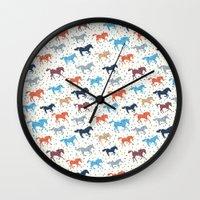 Horse Print Wall Clock