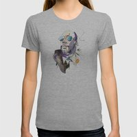 Isaac Hayes Womens Fitted Tee Athletic Grey SMALL