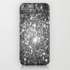 Black Slate Sparkle Stars iPhone 6 Slim Case