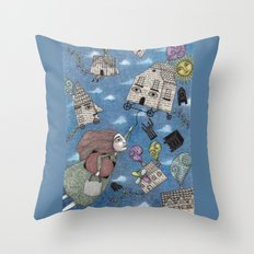 Moving Day Throw Pillow