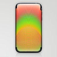 Orange Helix iPhone & iPod Skin