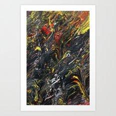 Gravity Painting 12 Art Print