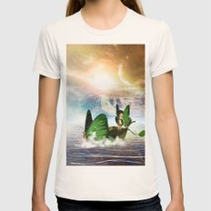Beautiful Fairy Womens Fitted Tee Natural SMALL