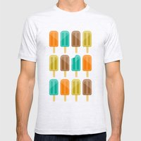 Popsicle Mens Fitted Tee Ash Grey SMALL