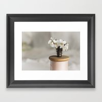 White Violets In A Thimb… Framed Art Print