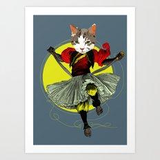 Kitty is a bad-ass Art Print