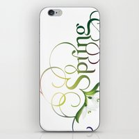 Spring Lettering iPhone & iPod Skin