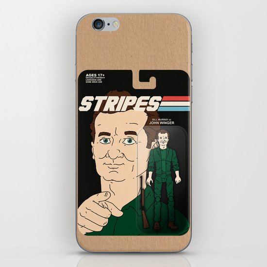 Stripes Action Figure iPhone & iPod Skin