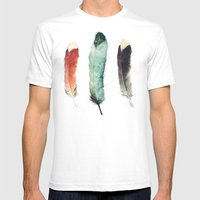 Feathers Mens Fitted Tee White SMALL