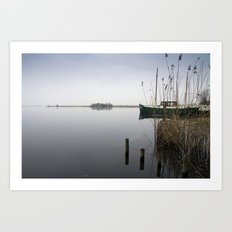 The silence of the Lake Art Print
