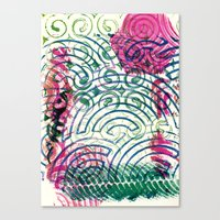 Ghosting green to pink Canvas Print