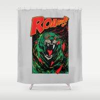 Cringer Roar Shower Curtain