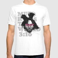 Murs Rules The World Mens Fitted Tee White SMALL