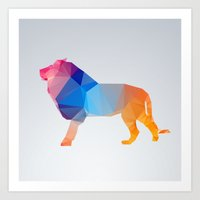 Glass Animal Series - Lion Art Print