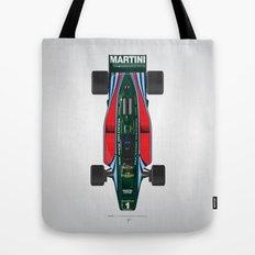 Outline Series N.º2, Mario Andretti, Lotus 80-Ford 1980 Tote Bag