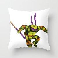 Bo Staff Turtle Throw Pillow