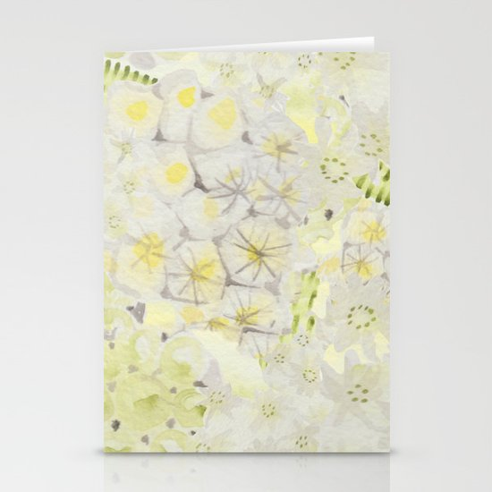 Lemon Abstract Stationery Card