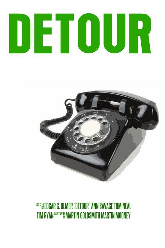 Detour Movie Poster Art Print
