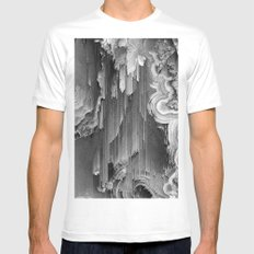 AGATE DRIFT Mens Fitted Tee SMALL White