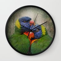 Rainbow lovers Wall Clock