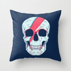 Bowie Skull Throw Pillow