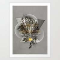 Keep calm and breathe deeply Art Print