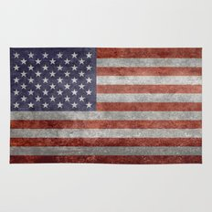 The United States of America Flag, Authentic 10:19 G-spec Desaturated version Rug