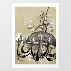Hester, the chande-lady Art Print