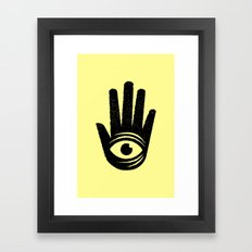 HAND-EYE COORDINATION Framed Art Print