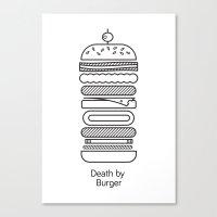 Death By Burger Canvas Print
