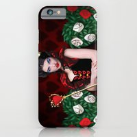 iPhone & iPod Case featuring Painting The Roses Red by Natasha Alexandra Englehardt