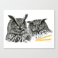 Two OWLs  G2010-11 Canvas Print